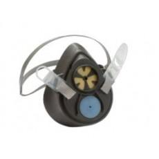 3M防护面具,单过滤元件半面罩呼吸器3000系列